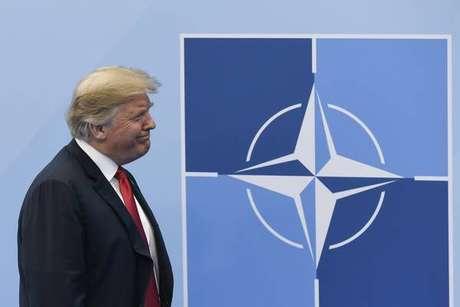 Donald Trump durante cúpula da OTAN em Bruxelas