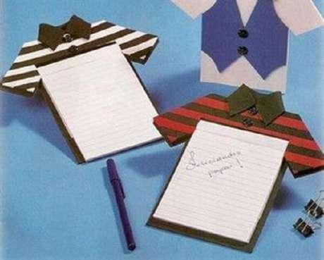 3- Bloco de anotação de lembrancinhas para o dia dos pais.