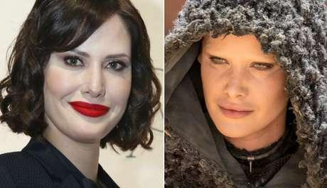 A bela atriz ganha aspecto sombrio após maquiagem surpreendente
