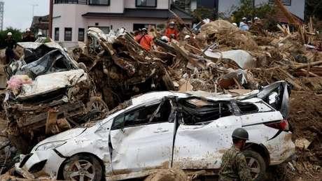 O total de vítimas fatais por causa de tempestades no Japão já passa de 180