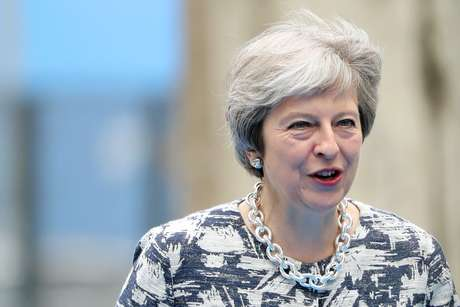 Primeira-ministra britânica, Theresa May 12/07/2018 Tatyana Zenkovich/Pool via REUTERS