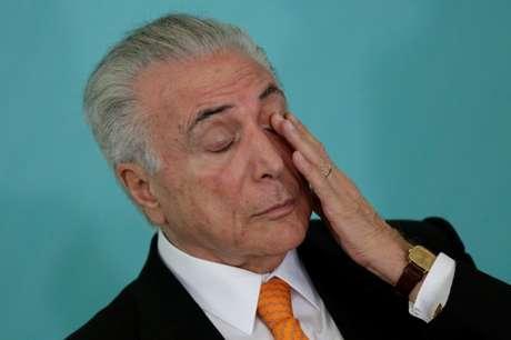 Presidente Michel Temer participa de reunião no Palácio do Planalto, em março 21/03/2018 REUTERS/Ueslei Marcelino