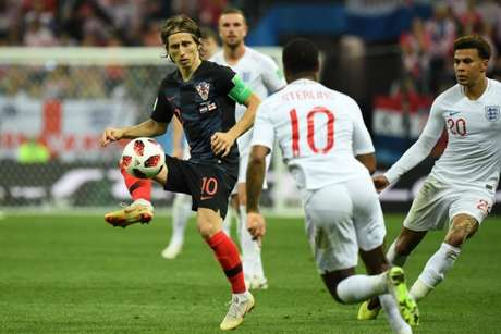 Modric teve mais uma atuação muito boa contra a Inglaterra, ajudando a Croácia a ir à final da Copa, que será contra a França