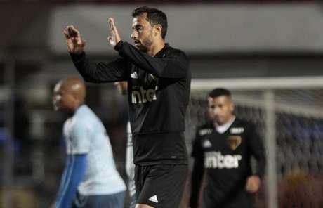 Nenê fez o único gol do jogo-treino contra o São Bento, no Morumbi, nesta noite (Miguel Schincariol/saopaulofc.net)