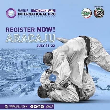 Etapa de Aracaju do International Pro da UAEJJF/FBJJ acontecerá nos dia 21 e 22 de julho (Foto: Divulgação)