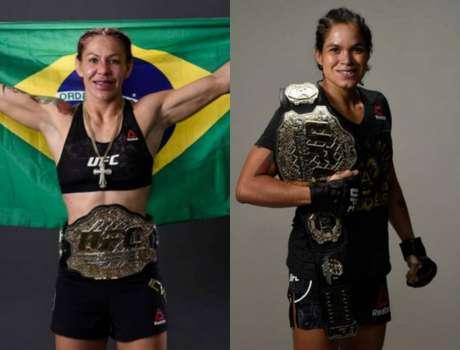 Cris Cyborg e Amanda Nunes protagonizaram mais um capítulo da recente rivalidade (Foto: Reprodução/UFC)