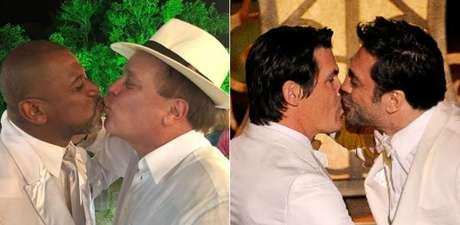 Chico Pinheiro com amigo, Brolin e Javier: reações histéricas de quem se ofende com um gesto afetuoso