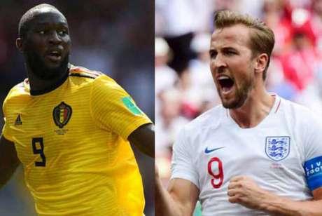 Lukaku e Kane disputam a artilharia da Copa. O Inglês tem boa vantagem, mas o belga não quer deixar barato. (AFP)