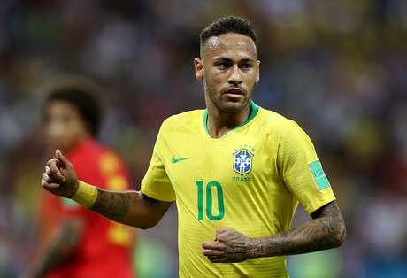Neymar durante jogo Brasil x Bélgica pela Copa do Mundo