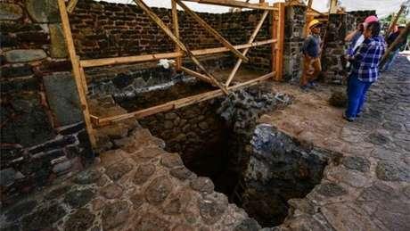 Acredita-se que as principais estruturas do sítio arqueológico de Teopanzolco datem do século 13 - o que indica que o templo recém-descoberto é anterior a ele