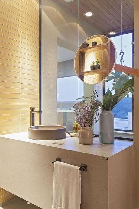 45. Banheiros planejados podem apresentar projetos inovadores e graciosos. Projeto por Isabela Bethonico