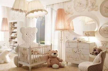 24. Quarto de bebê menina com decoração de ursinhos. Projeto de Graziela