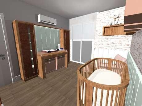 10. A decoração em madeira dá um ar mais rústico ao quarto. Projeto de Priscila Mei Minku