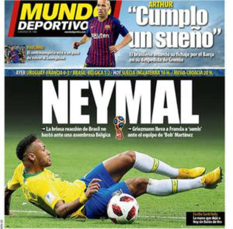 'Neymal' foi a definição usada pelo espanhol Mundo Deportivo.