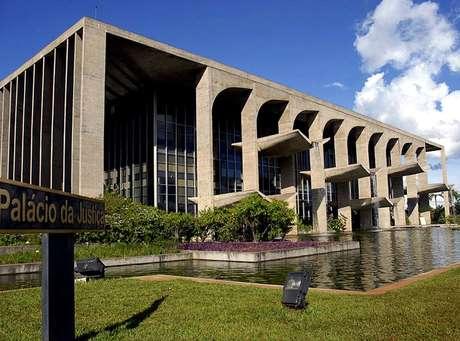 Fachada do prédio do Ministério da Justiça, em Brasília