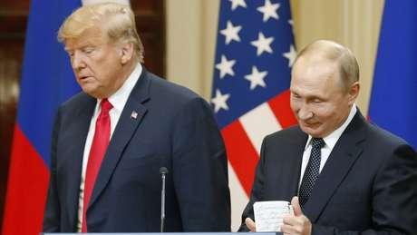 Putin e Trump disseram que reunião em Helsinki foi bastante produtiva