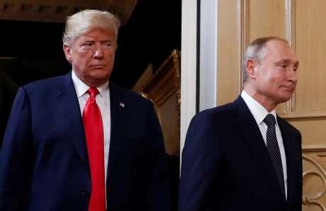 Cúpula Trump e Putin em Helsinque 16/07/2018 REUTERS/Kevin Lamarque