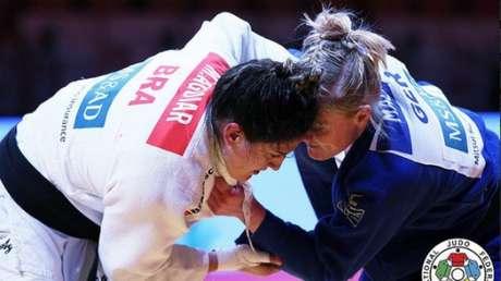 Mayra Aguiar representará o Brasil no Grand Prix de Zagreb, na Croácia(Foto: Reprodução/Twitter)