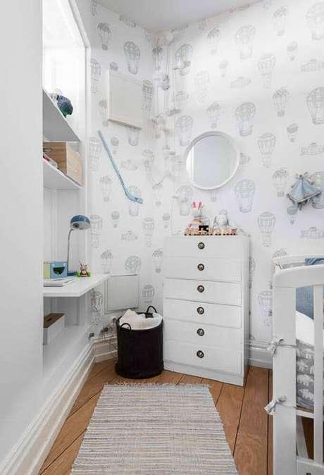 10. Prefira tons claros para a decoração de quarto pequeno de bebê