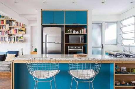 15. Para uma cozinha mais organizada e bonita invista em modelos de nichos organizadores para cozinha