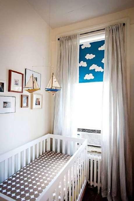 21. Decoração para quarto de bebê simples e pequeno