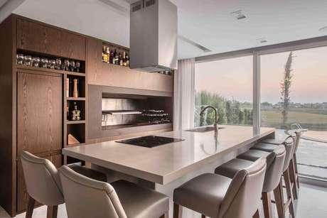 24. Os nichos decorativos para cozinha gourmet acrescentam muito na decoração deixando-a mais sofisticada