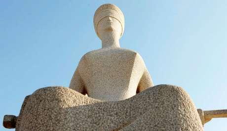 A estátua da Justiça, em frente ao STF