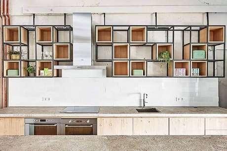 29. Alguns modelos de nichos organizadores para cozinha é capaz de deixá-la mais bonita e moderna