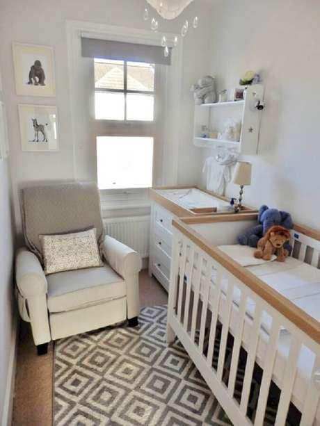 25. Ideias de decoração para quarto de bebê pequeno em tons neutros