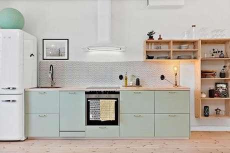32. Os nichos para cozinha podem ser transformar no grande destaque da decoração