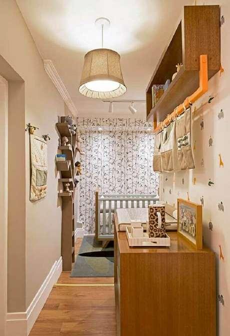 30. Ideias para quarto de bebê decorado com papel de parede de bichinhos