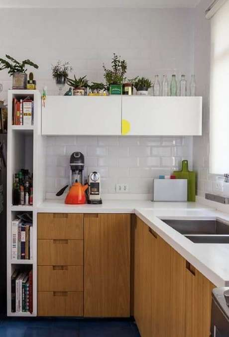 5. Modelos planejados de nichos para cozinha pequena são importantes para otimizar o espaço