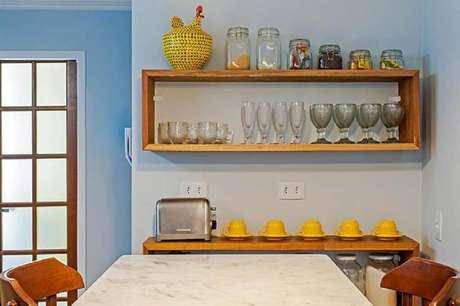 34. Modelos de nichos para cozinha pequena e simples