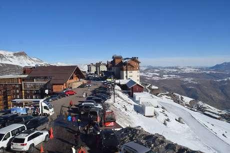 Rua única do complexo de Valle Nevado