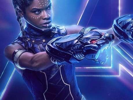 """No filme """"Pantera Negra"""", a personagem Shuri é vivida pela atriz Letitia Wright"""