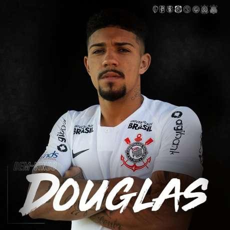 Douglas foi anunciado nesta quinta pelo Corinthians (Foto: Divulgação/Corinthians)