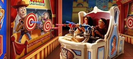 A atração Toy Story Mania foi movida para a nova área.