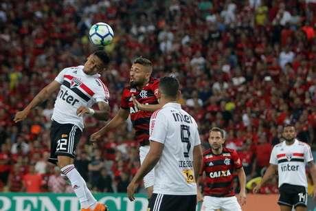 Lance de Flamengo x São Paulo