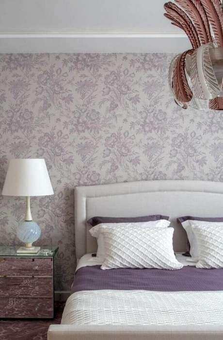 69 modelos de papel de parede para quarto de casal - Papel decorado para paredes ...