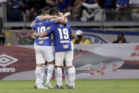 Cruzeiro comemora após vitória sobre o América-MG