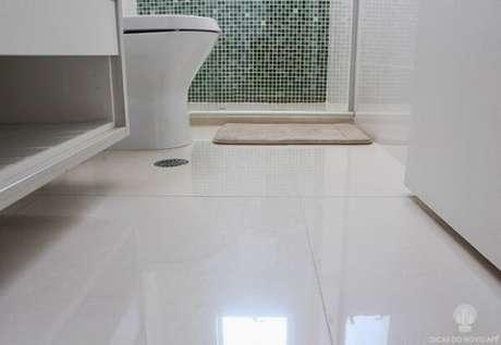 20.Piso para banheiro em porcelanato esmaltado