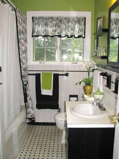 45. Piso para banheiro com estampa