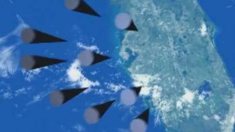 Nas imagens divulgadas em março, é possível ver um conjunto de mísseis apontando para a Flórida, nos Estados Unidos