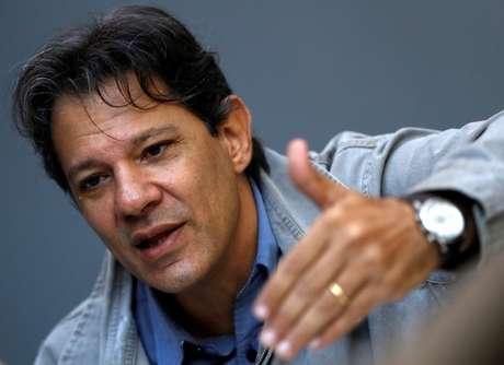 Ex-prefeito de São Paulo Fernando Haddad 17/04/2018 REUTERS/Leonardo Benassatto