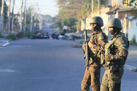 Comando Conjunto da Intervenção realiza operação em São Gonçalo, na Região Metropolitana do Rio de Janeiro