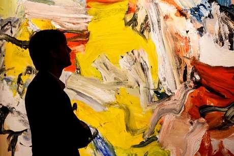 Obra sem título de Willem Kooning, exposta na Sotheby, em Londres, em 2015