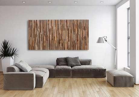 49. Modelos de quadros para sala grande com decoração moderna e minimalista