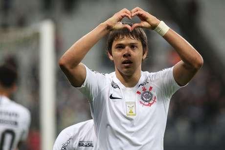 Romero comemora gol do Corinthians