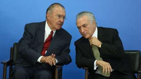 Michel Temer substituiu Dilma, alvo de impeachment, e José Sarney assumiu após a morte do presidente eleito Tancredo Neves