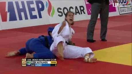 Alexia Castilhos conquistou bronze neste sábado (Foto: Reprodução)